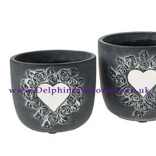 Loving Heart Memorial Flower Pot Vase - Small [OPF137167] - £6.99 ...